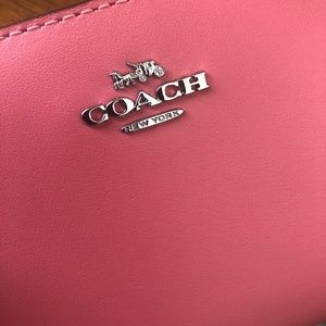 Coach Bags - Bright Coral Skinny Wallet